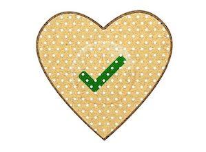 Badge en bois coeur